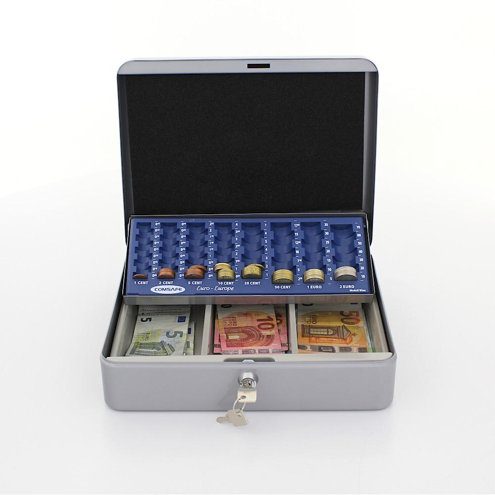 Profirst Pluto Geldkassette Silber