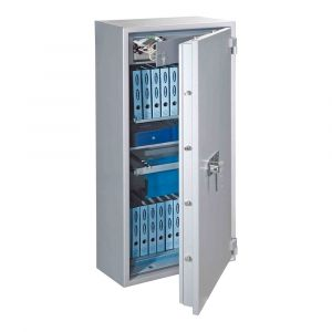 Rottner feuersicherer Papiersicherungsschrank EN0 PaperNorm Premium 65 Doppelbartschloss weißaluminium